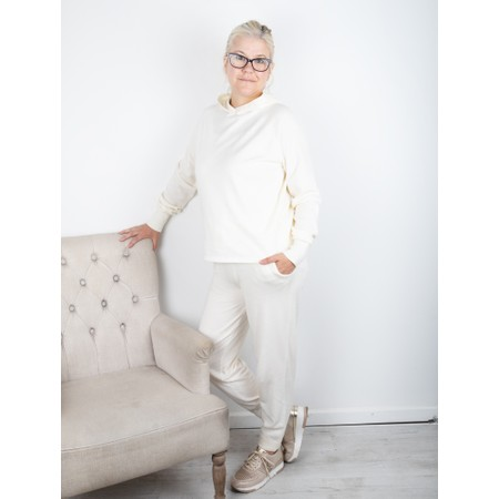 Chalk Hannah Supersoft Knit Hoodie - Off-White