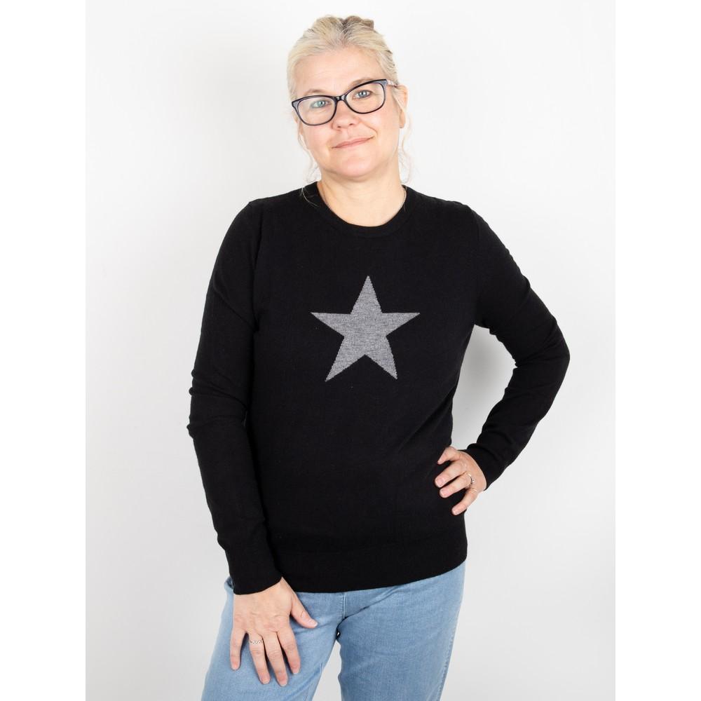 Chalk Taylor Star Jumper Black