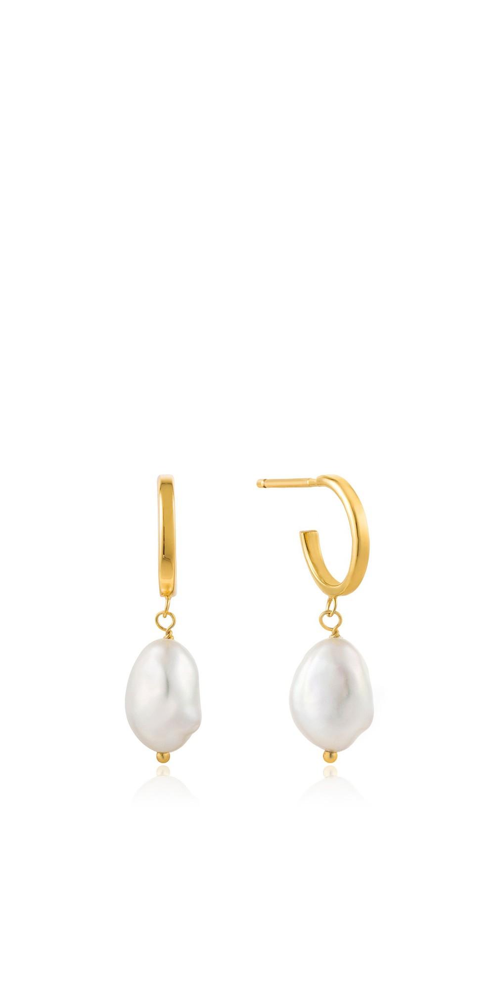 Pearl Mini Hoop Earring main image
