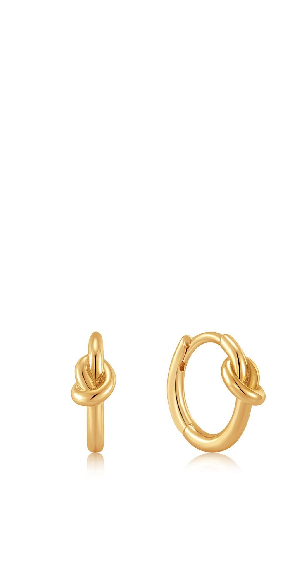 Knot Huggie Hoop Earring main image
