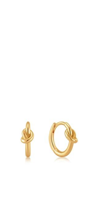 Ania Haie Knot Huggie Hoop Earring Gold