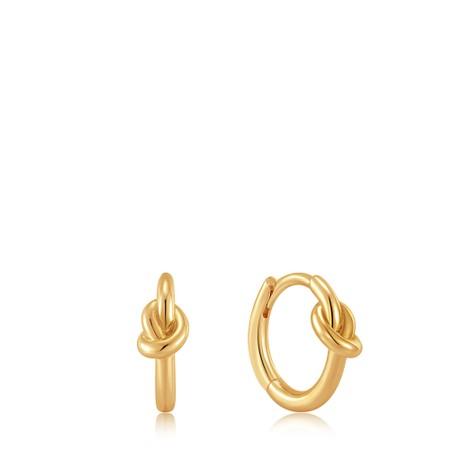Ania Haie Knot Huggie Hoop Earring - Gold