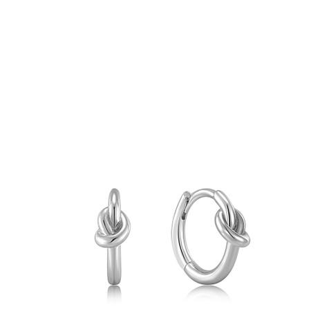 Ania Haie Knot Huggie Hoop Earring - Metallic