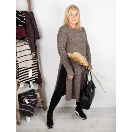 Mama B Frappe M Narrow Stripe Fleece Jumper - Grey