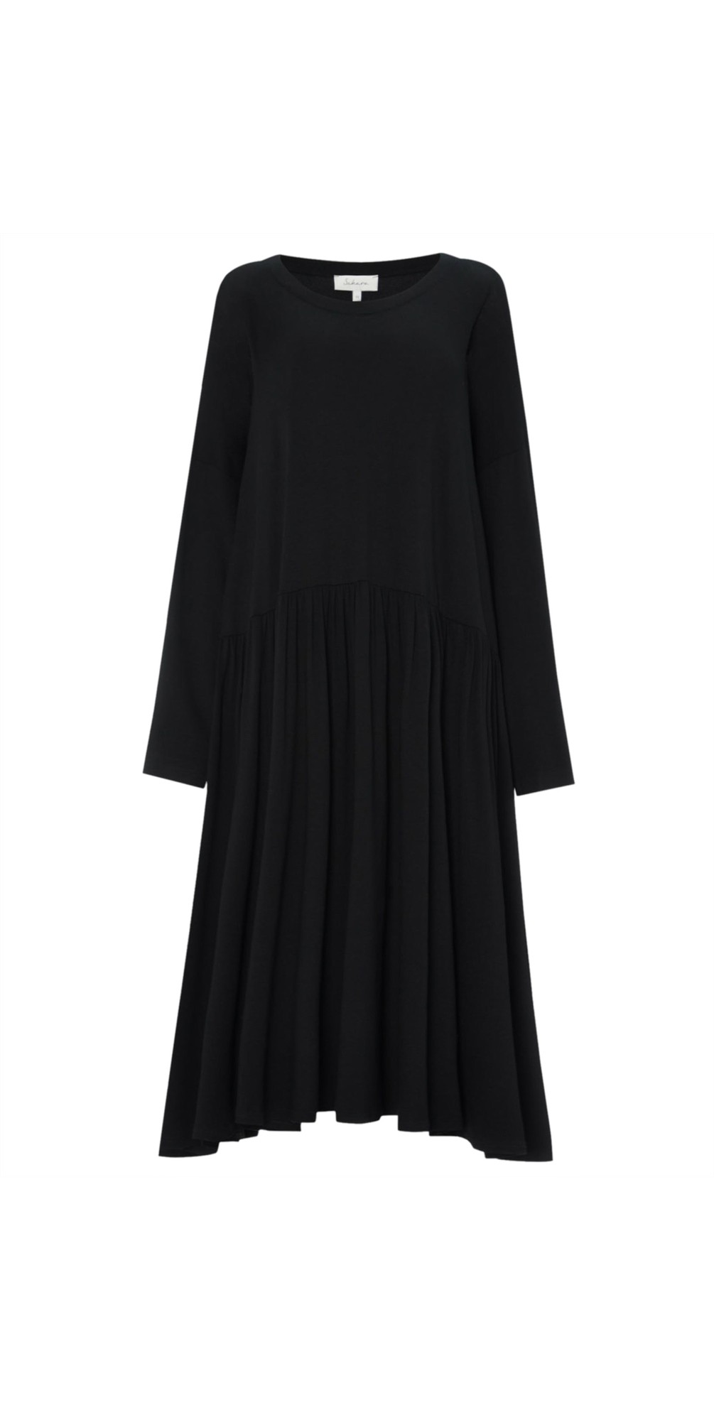 Crepe Jersey Flared Dress main image