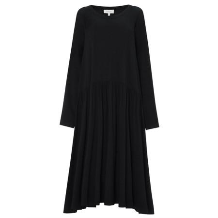 Sahara Crepe Jersey Flared Dress - Black