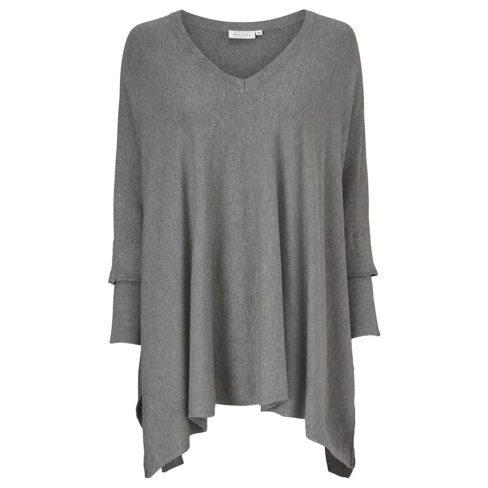 Masai Clothing Fosna Top Grey Mel