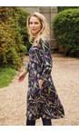 Adini Navy Bryony Dress Botanical Print