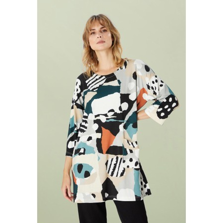Sahara Abstract Jersey Print Tunic - Multicoloured