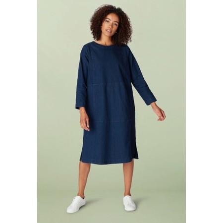 Sahara Stretch Denim Flared Dress - Blue