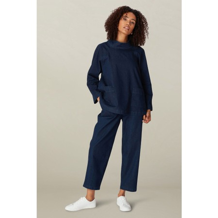 Sahara Stretch Denim Straight Trouser - Blue