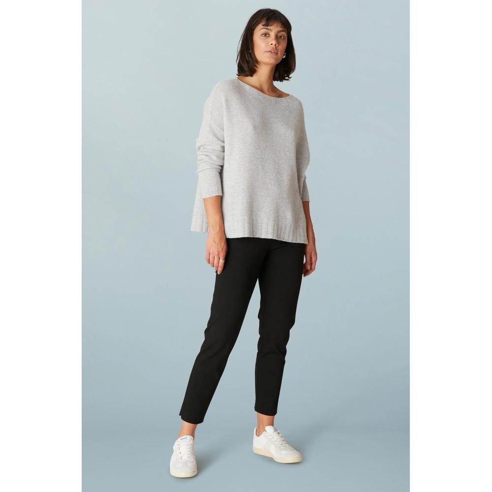 Sahara Ponte Slim Leg Trouser Black