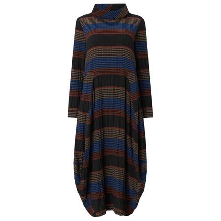 Sahara Crinkle Stripe Bubble Dress - Multicoloured