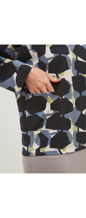Adini Hugo Top Sonia Print Black / Stone