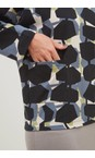 Adini Black / Stone Hugo Top Sonia Print