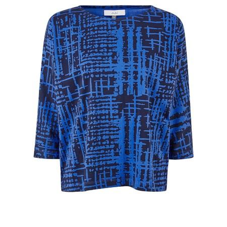 Adini Meri Top Abstract Check Print - Blue