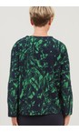 Adini Navy / Grass Heidi Jungle Print Top
