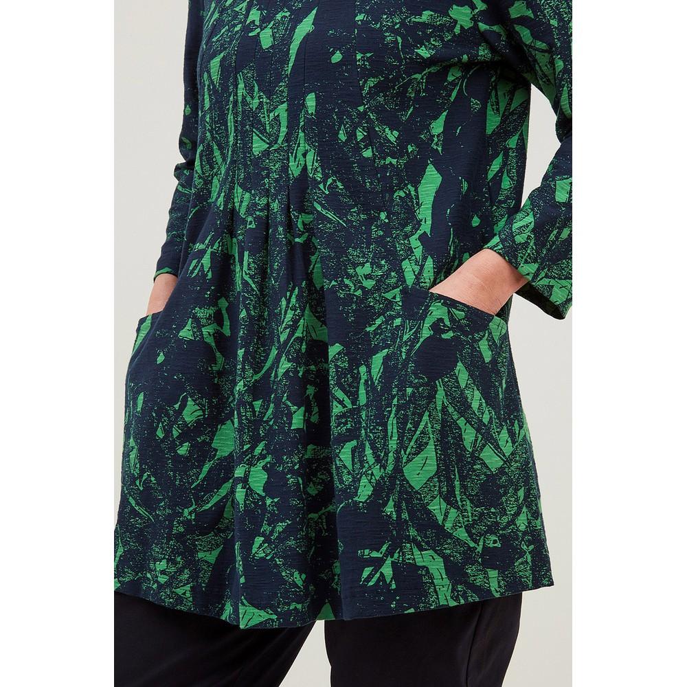 Adini Clara Jungle Print Tunic  Navy / Green