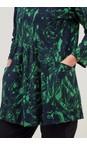 Adini Navy / Green  Clara Jungle Print Tunic