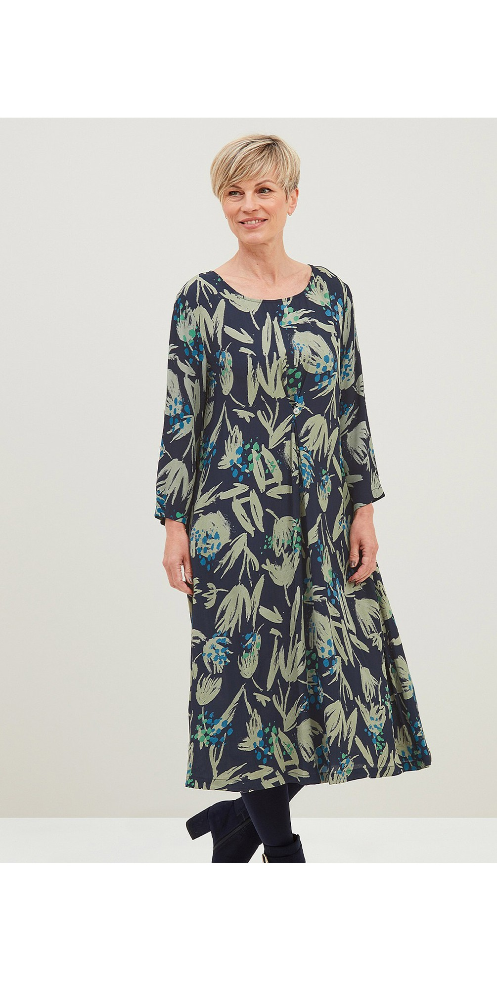Melissa Silhouette Print Dress  main image