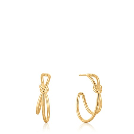 Ania Haie Knot Stud Hoop Earring - Gold