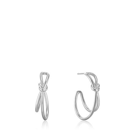 Ania Haie Knot Stud Hoop Earring - Metallic