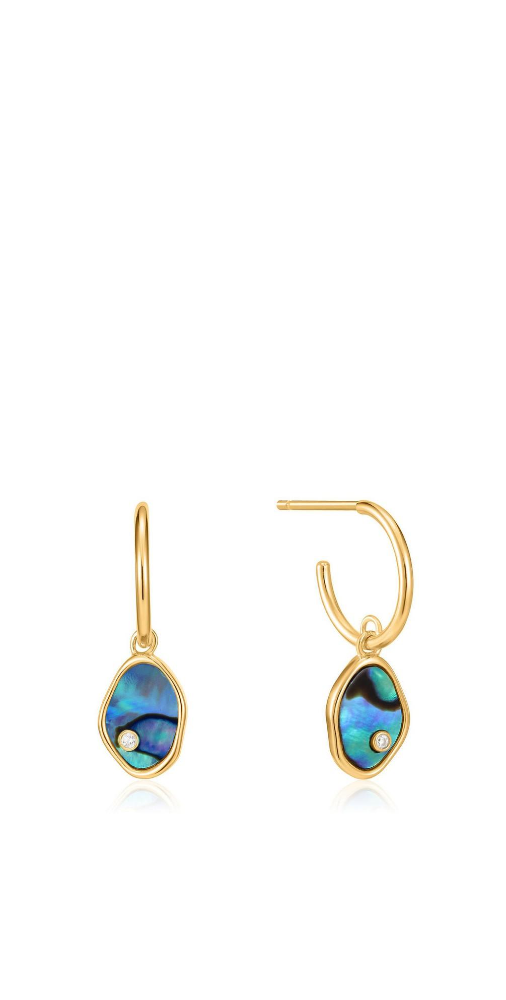 Tidal Abalone Mini Hoop Earring main image