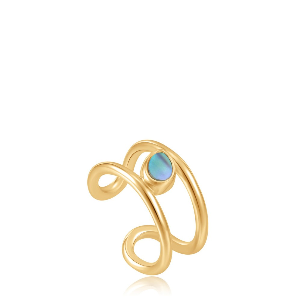 Ania Haie Tidal Abalone Ear Cuff Gold