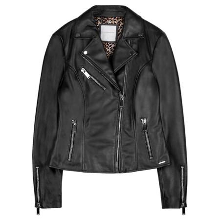 RINO AND PELLE Ghost Bugatti Biker Style Leather Jacket - Black