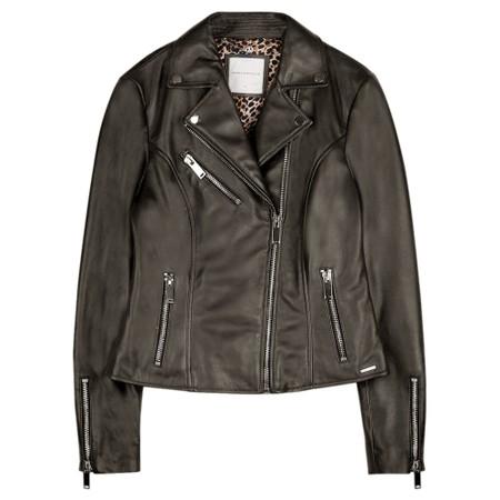 RINO AND PELLE Ghost Bugatti Biker Style Leather Jacket - Green