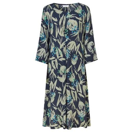 Adini Melissa Silhouette Print Dress  - Blue