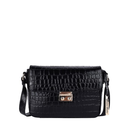 Ashwood Lansdowne Cross Body Leather Bag - Black