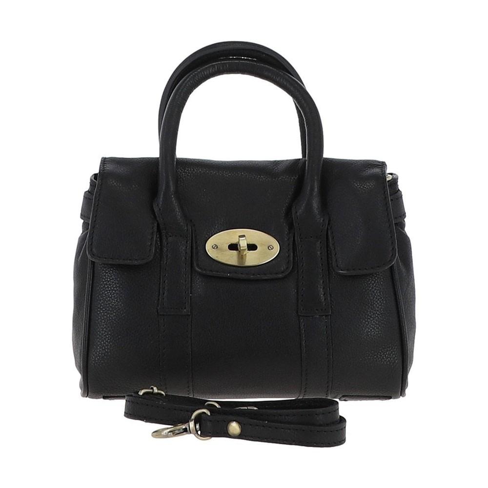 Ashwood Malvern Leather Bag Black