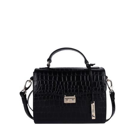 Ashwood Charlton Leather Handbag - Black