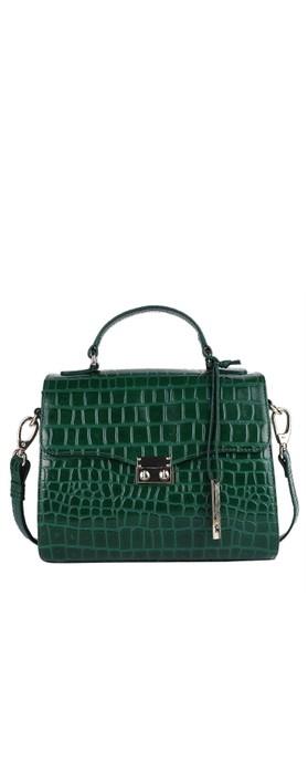 Ashwood Charlton Leather Handbag Green