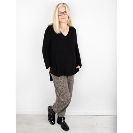 Mama B Cervo J Spiga Herringbone Trouser - Grey