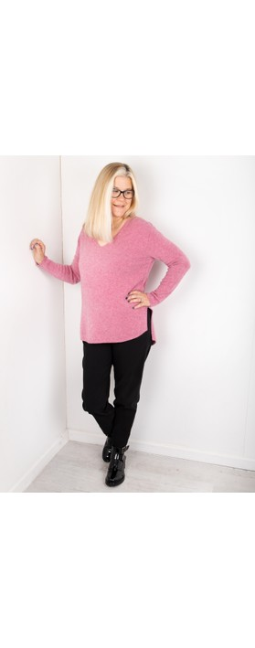 Amazing Woman Perrie V Neck Jumper Orchid