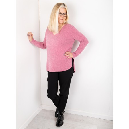 Amazing Woman Perrie V Neck Jumper - Purple