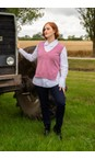 Amazing Woman Orchid Pixie V Neck Knitted Vest