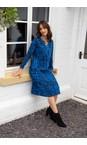 Adini Navy / Bright Blue Ridley Abstract Check Print Dress