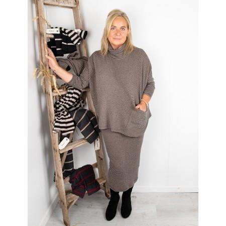 Mama B Lilla M M Stripe Skirt - Grey