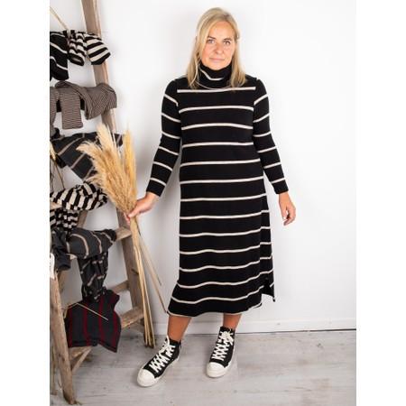 Mama B Tiramisu RG Wide Stripe Fleece Dress - Black
