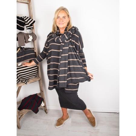 Mama B Grappa RG Wide Stripe Fleece Jumper - Grey