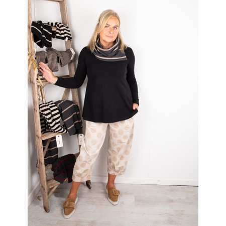 Mama B Spacco RG Wide Stripe Fleece Snood - Grey
