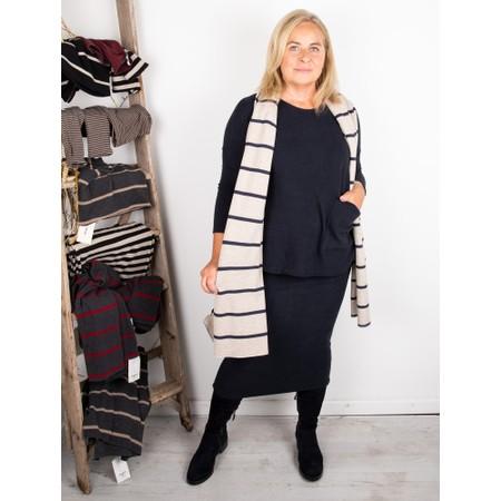 Mama B Segovia RG Wide Stripe Fleece Scarf - Blue