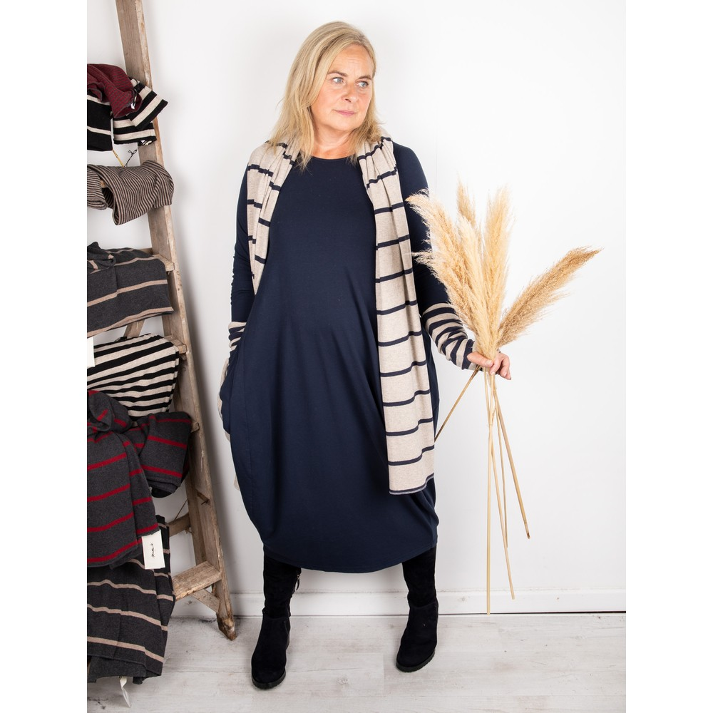 Mama B Tartufo Tefes Efeso Medium Jersey Dress Blu