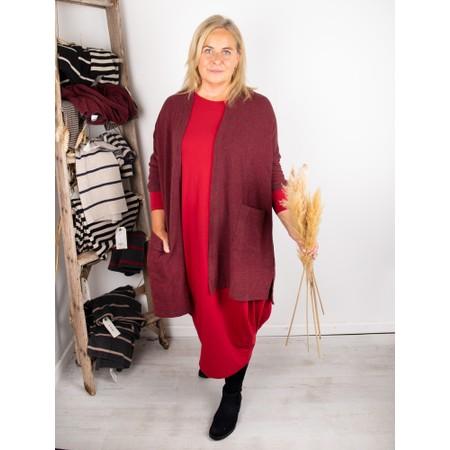 Mama B Souffle M Narrow Stripe Fleece Cardigan - Grey