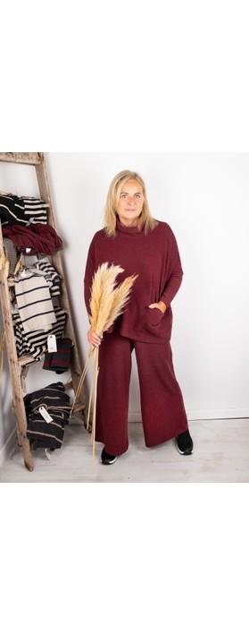 Mama B Bigne M Narrow Stripe Fleece Jumper Anthra / Melograno