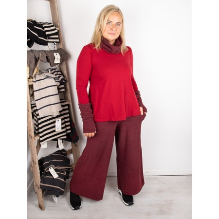Mama B Memi U Plain Jersey Top - Red