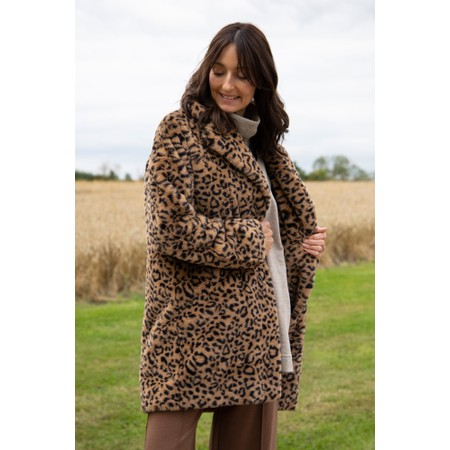 RINO AND PELLE Joela Faux Fur Coat - Brown